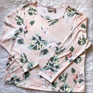 Chico's | Floral Lightweight Sweater Sz 3/XL